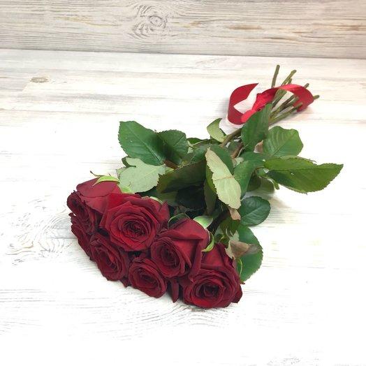 Букет из 7 красных роз (50см) N35: букеты цветов на заказ Flowwow