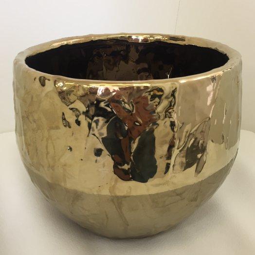 Кашпо керамическое «золото «: букеты цветов на заказ Flowwow