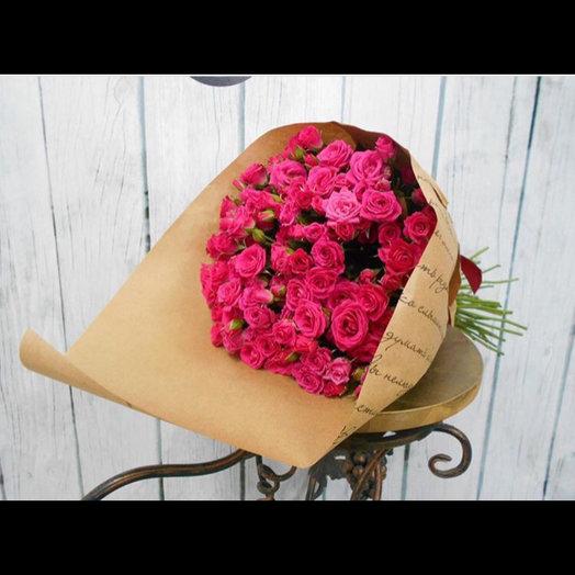 55 роз : букеты цветов на заказ Flowwow