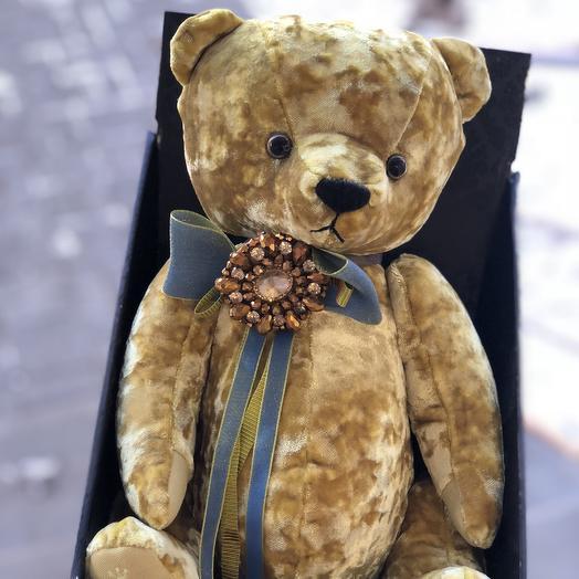 Бархатный медвежонок: букеты цветов на заказ Flowwow