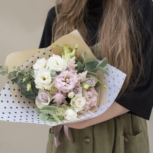 В горошек: букеты цветов на заказ Flowwow