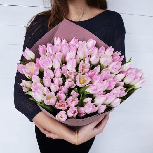 75 поцелуев: букеты цветов на заказ Flowwow