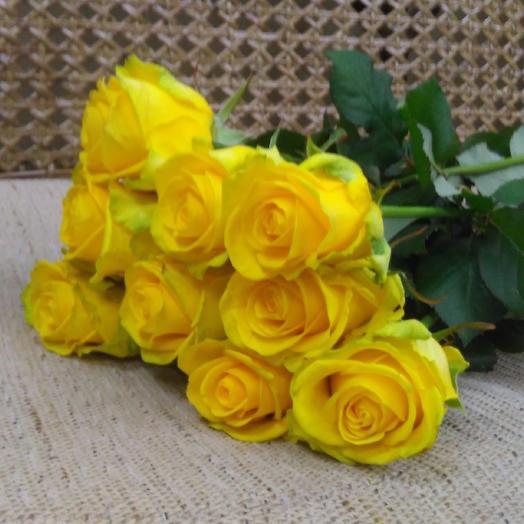 Розы желтые 70 см: букеты цветов на заказ Flowwow
