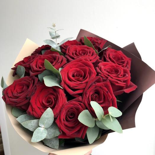 Букет из 13 роз: букеты цветов на заказ Flowwow