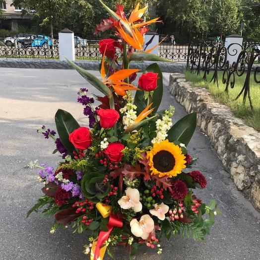"Корзина ""Жар-птица счастья"": букеты цветов на заказ Flowwow"
