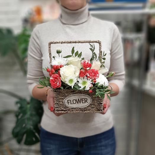 Счастье в корзинке: букеты цветов на заказ Flowwow