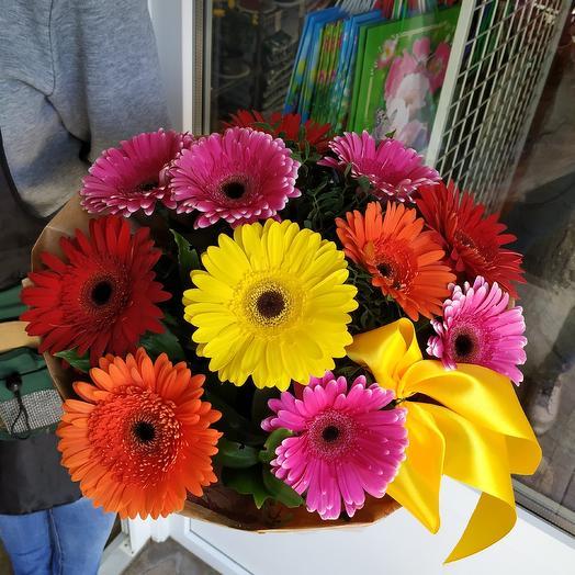 """Букет герберы микс """"Комплимент"""": букеты цветов на заказ Flowwow"""