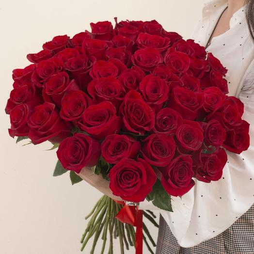 Роза красная 51: букеты цветов на заказ Flowwow