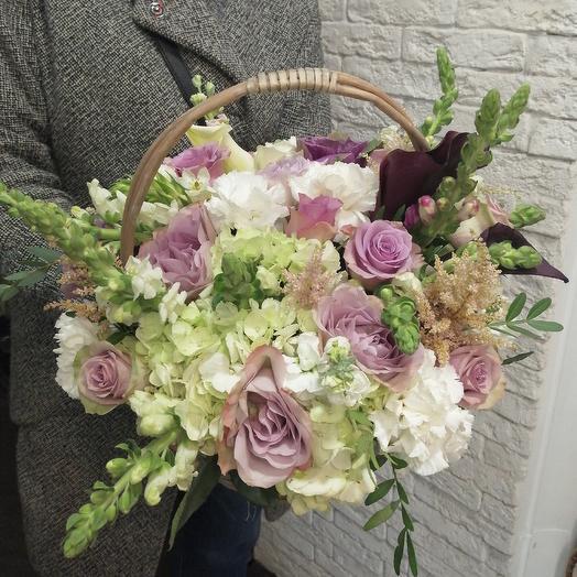 Очень красивая корзина: букеты цветов на заказ Flowwow