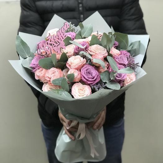 Пионовидные розы для мамы: букеты цветов на заказ Flowwow