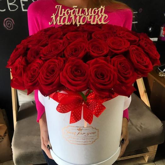 Шляпная коробка с 25 розой