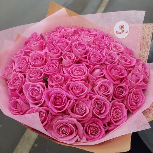 Букет из 51 роз аква🍭