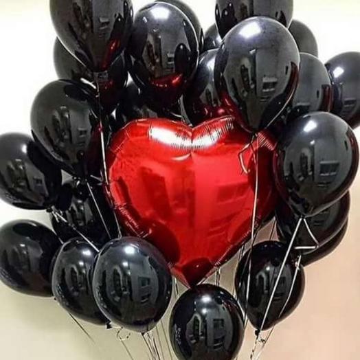 Композиция из воздушных шаров: букеты цветов на заказ Flowwow