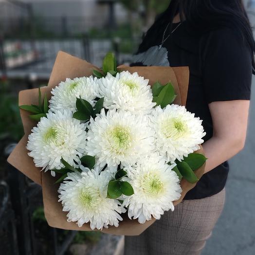 Безе с лаймом⚪ хризантемы одноголовые белые
