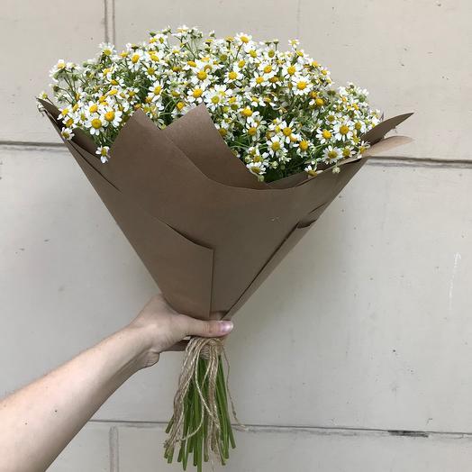 Матрикария в крафте: букеты цветов на заказ Flowwow