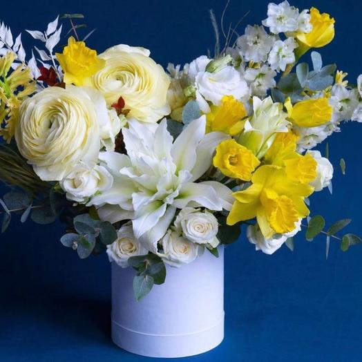 Коробка с цветами-«Грация»