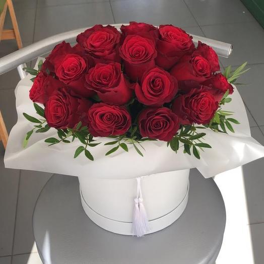 25 роз любящее сердце
