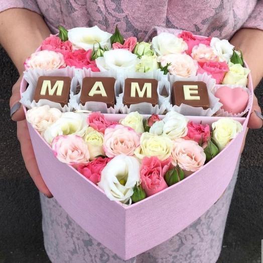 Цветочная коробочка «Маме»