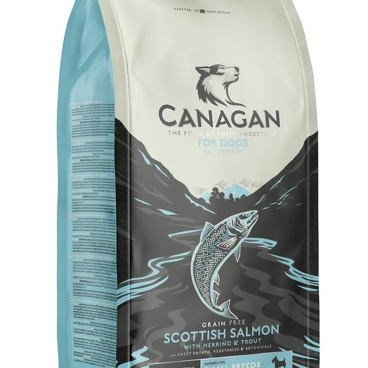 CANAGAN Grain Free, Scottish Salmon беззерновой сухой корм для собак мелких пород всех возрастов с шотландским лососем 2 кг