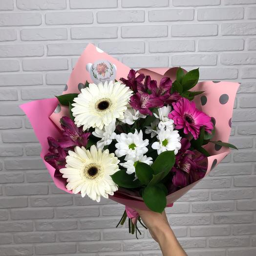 Bouquet with gerberas and alstroemeria