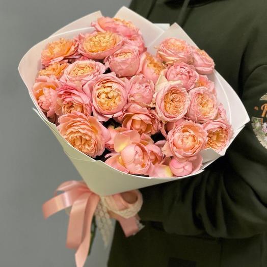 Букет пионовидных роз Джульетта 7шт