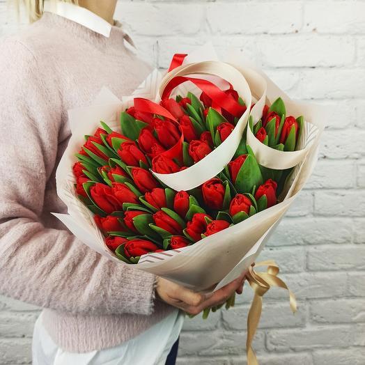 """Букет """"49 Тюльпанов"""" Красных"""