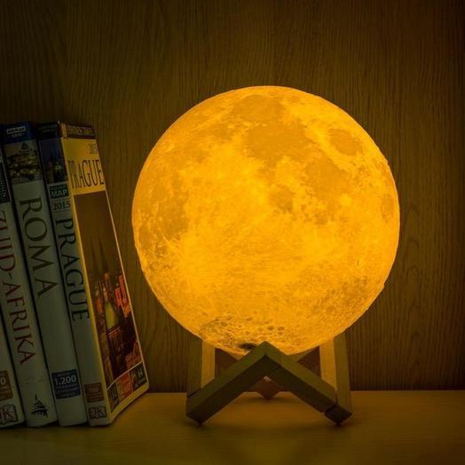 Сенсорный светильник Луна 3D 15 см