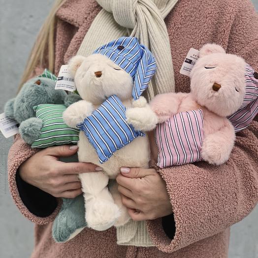 """Мягкая игрушка """"Медведь соня"""" (Цена действительна только при заказе букета)"""