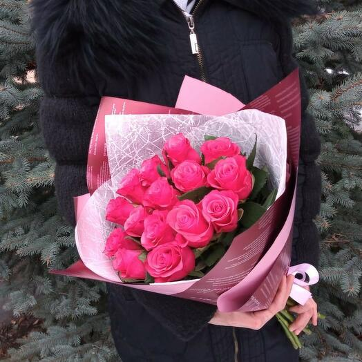 Яркий,праздничный  букет роз