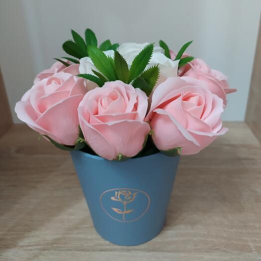 Мыльные розы, количество 11 шт