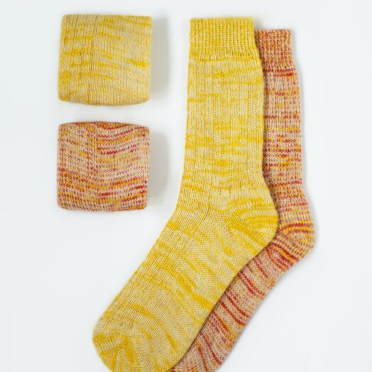 Набор из двух пар шерстяных носков «Солнечный»
