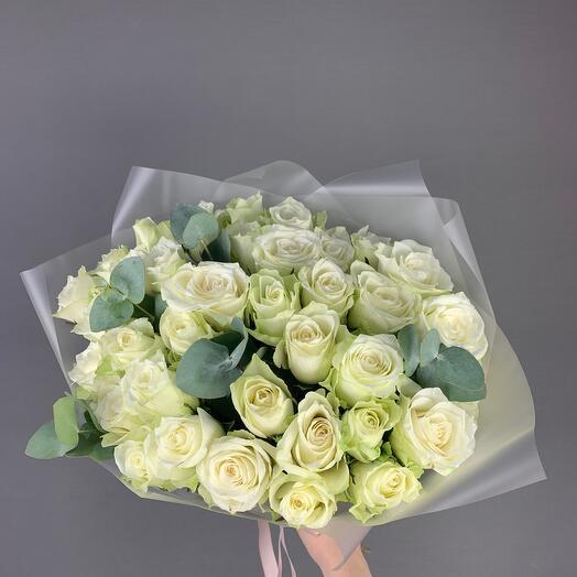 Roses In White