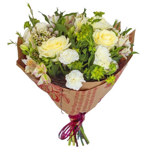 Белые Розы: букеты цветов на заказ Flowwow
