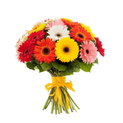 Герберы разноцветные 21шт: букеты цветов на заказ Flowwow