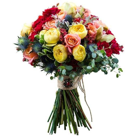 Букет из роз орхидей калины: букеты цветов на заказ Flowwow