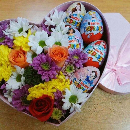 Коробочка с сюрпризами: букеты цветов на заказ Flowwow