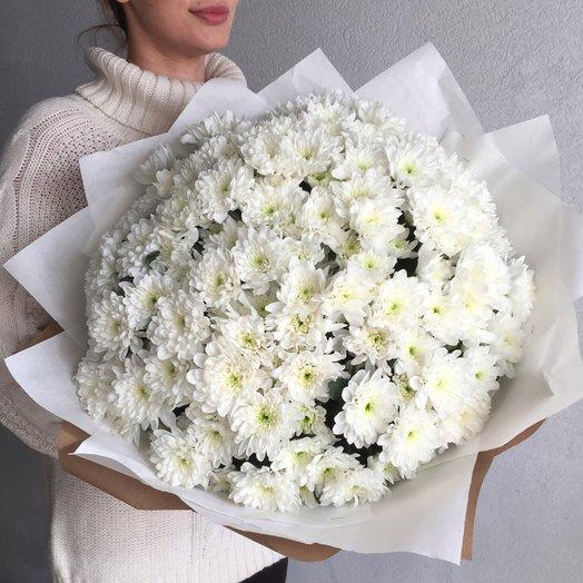 Белая хризантема: букеты цветов на заказ Flowwow