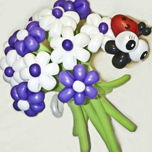 Яркий букет из 11 ромашек: букеты цветов на заказ Flowwow