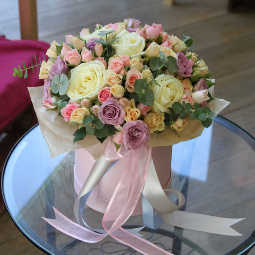 Box19 Ассорти из роз: букеты цветов на заказ Flowwow