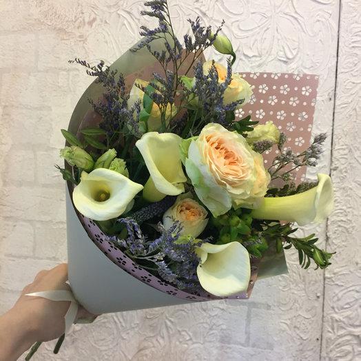 Букет с каллами: букеты цветов на заказ Flowwow