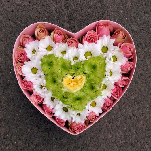 5 сердец (Коробочка 54): букеты цветов на заказ Flowwow