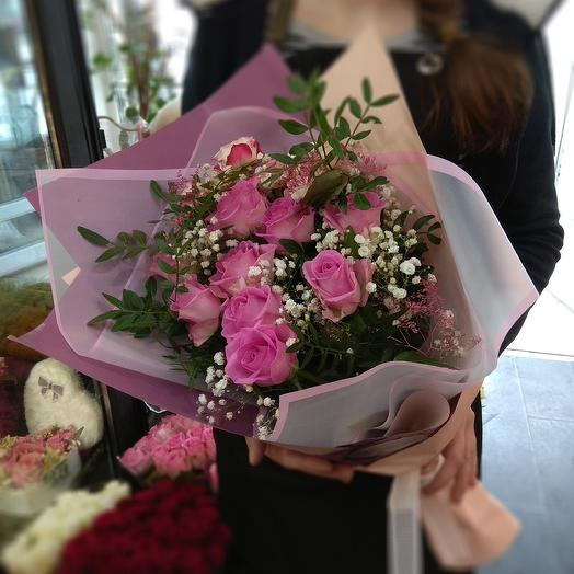 Весна в розовом: букеты цветов на заказ Flowwow