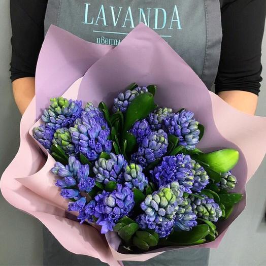Букет гиацинтов: букеты цветов на заказ Flowwow