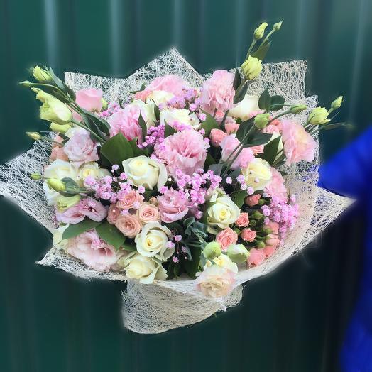 Бело-розовый букет: букеты цветов на заказ Flowwow