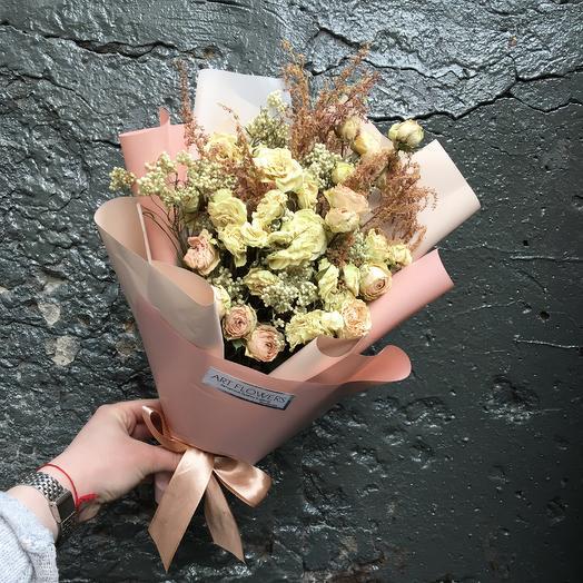 Милый букет сухоцветов: букеты цветов на заказ Flowwow