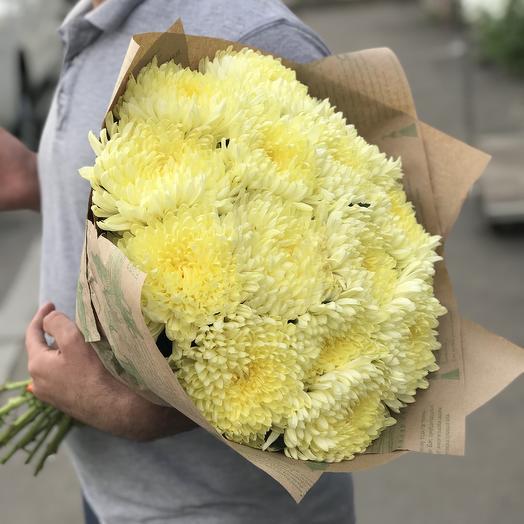 Букет желтых хризантем: букеты цветов на заказ Flowwow