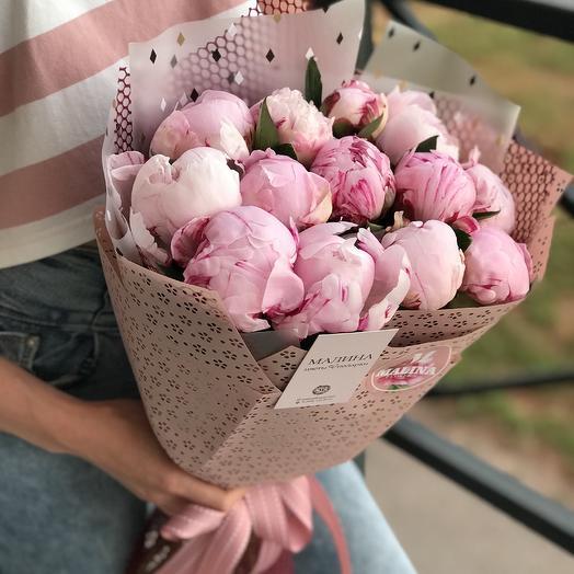 Букет пионов «Розовые зефирки»: букеты цветов на заказ Flowwow