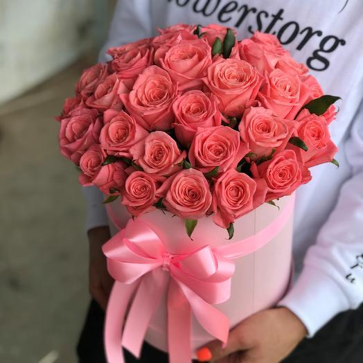 Коробка с цветами. 29 роз. N513
