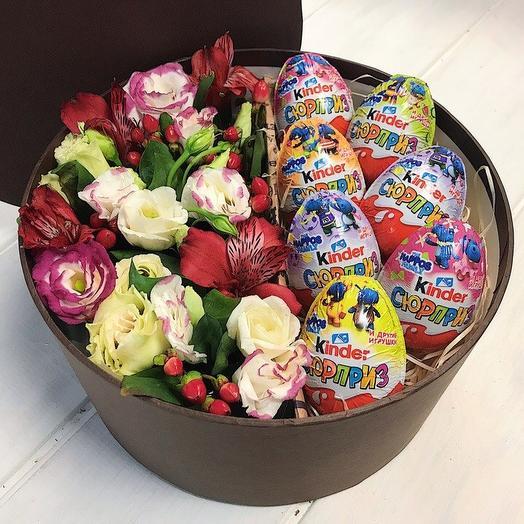 Шляпная коробка 15: букеты цветов на заказ Flowwow