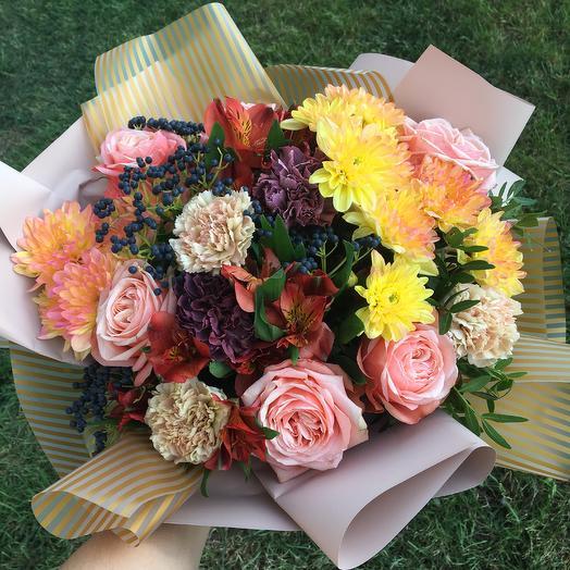 Золотая пора: букеты цветов на заказ Flowwow